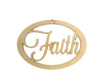 Faith Ornament - Faith Ornaments - Faith Decorations - Faith Decor - Faith Christmas Ornament - Personalized Free