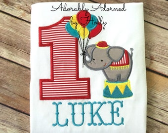 Personalized Circus Themed Birthday Shirt