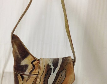 Painted Leather Purse ,Shoulder Bag,bag,purse, Free shipping in the US