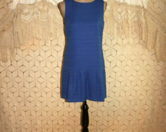 Royal Blue Dress Sleeveless Pleated Drop Waist Preppy Summer Small Dress Womens Dresses Minimalist Ann Taylor Size 4 Dress Womens Clothing