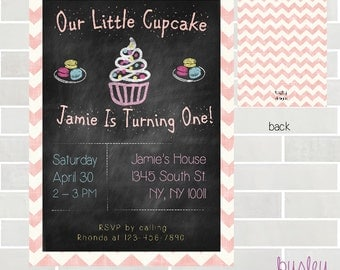 Cupcake Birthday, Cupcake Invitation, Cupcake Birthday Invitation, Cupcake Party *NEW STORE discount
