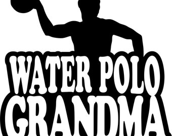 Water Polo Grandma Hoodie/ Water Polo Grandma Sweatshirt/ Water Polo Grandma Gift/ Boy Player Water Polo Grandma Hoodie Sweatshirt