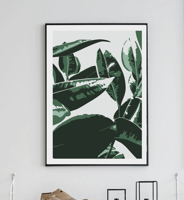 banana leaf print wall decor home decor digital print