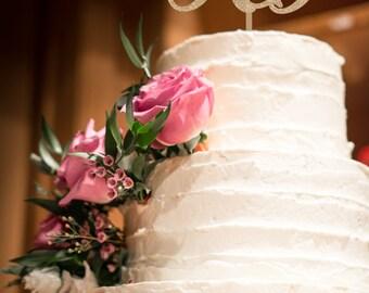 Custom Monogram Cake Topper, Wedding cake topper, Personalized Monogram Cake Topper, Last Name, Initials Cake Topper, Family Name Topper