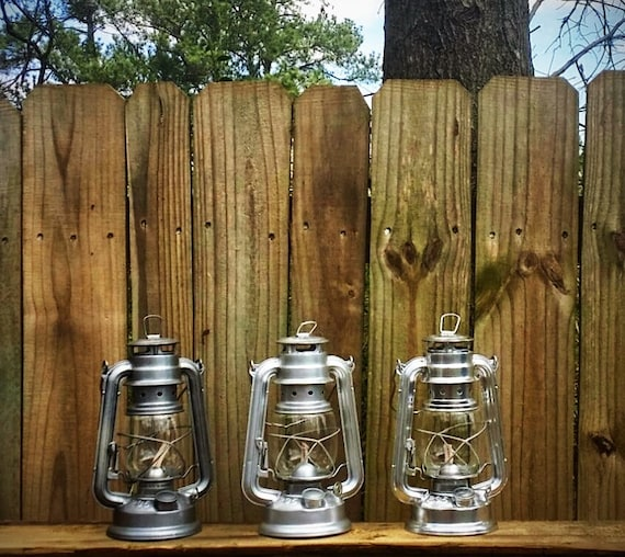 Silver railroad lantern rustic holiday decor by