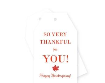 Thanksgiving hang tags / gift tags, Set of 10