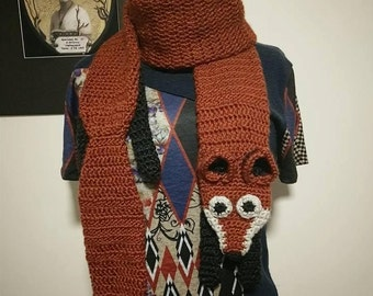Crochet Faux Fox Scarf *MADE TO ORDER*