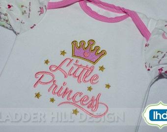 Little Princess Applique -- New Baby Applique -- Princess Crown Applique -- Applique Designs for Girls -- Cute Little Baby Applique