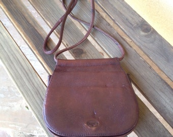 Crossbody Fossil Bag, Crossbody Purse, Brown Fossil Leather Handbag Purse, Genuine Leather Handbag, Shoulder Bag, Brown Leather Handbag
