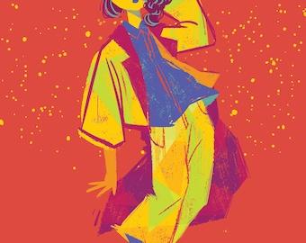 Cacti Girl #2 Postcard