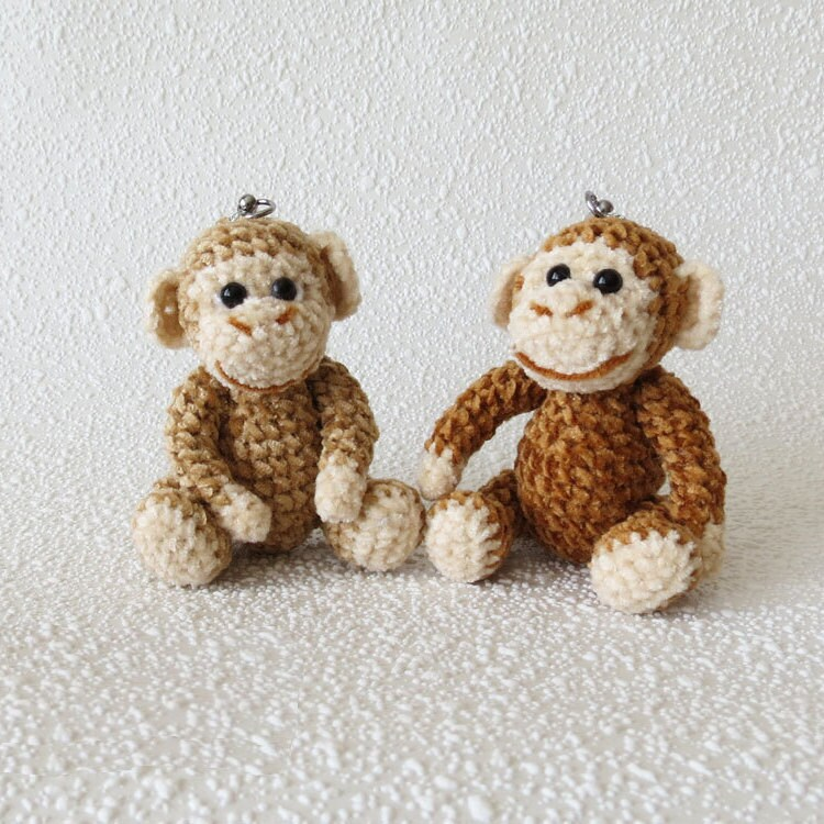Amigurumi Monkey Keychain : Keychain Monkey Monkey Amigurumi Monkey Crochet Keychain