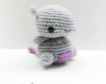 Crochet Mewtwo Inspired Chibi Pokemon