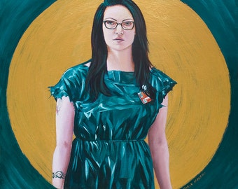 Alex Vause giclee print on canvas, Orange is the new black painting