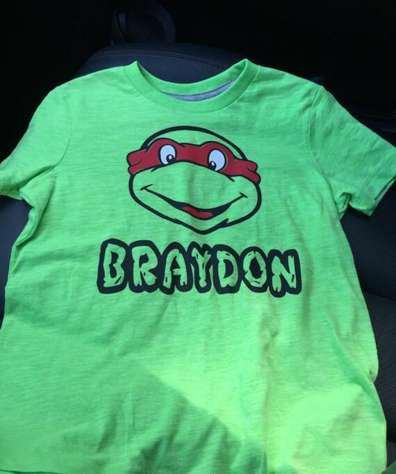 Personalized Ninja Turtle Birthday Shirt By Colangelocrafts
