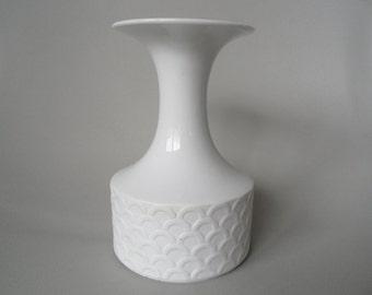 Königlich preußisch Tettau white porcelain vase,german porcelain vase,collectible white vase