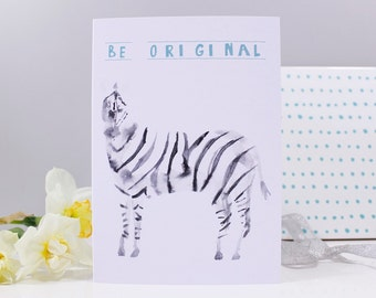 Be Original Zebra Card