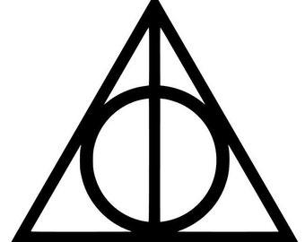 Harry Potter | Book Series | Deathly Hallows Symbol | Vinyl Decal