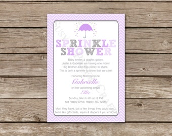 Baby Sprinkle Invitation, Digital File, You Print