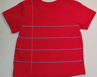 Red Notebook Paper Graphic© T-shirt - *Ready to Ship - 12 Months Size - Fun and Unique Gift