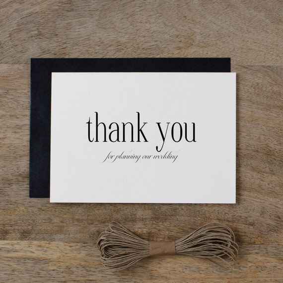 Thank You Note For Wedding Gift You Donot Like : ... Wedding PlannerWedding Planner Card, Wedding Thank You Cards