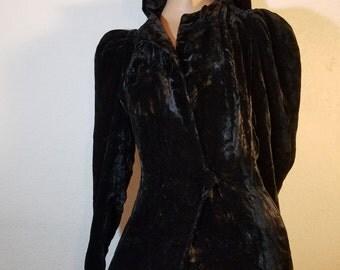 FREE  SHIPPING  1930 Silk Velvet  Coat