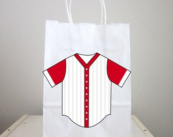 Baseball Goody Bags, Baseball Favor Bags, Baseball Gift Bags, Baseball Goodie Bags, Baseball Jersey Bags
