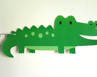 Alligator Banner - Alligator Birthday Banner - Alligator Baby Shower Banner