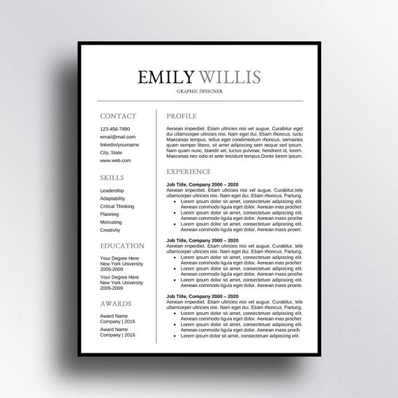 buy 1 get 1 free professional resume template cv template cover