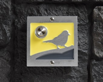 Modern Bird Doorbell with Lighted Button