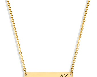 Delta Zeta Sorority Bar Necklace / Delta Zeta Necklace / Sorority Necklace / Sorority Gift / Big Little Gift / Sorority Jewelry