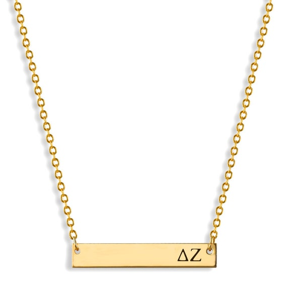 delta zeta sorority bar necklace delta zeta necklace