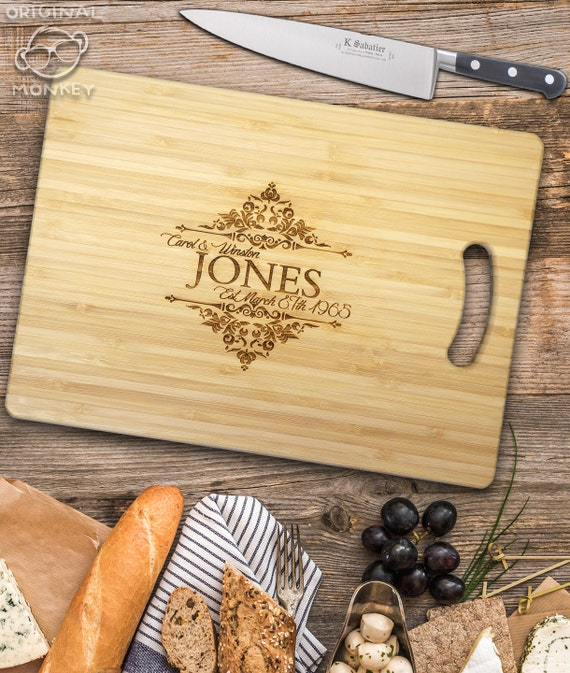 Personalised Wedding Gifts Vintage : Personalised Cutting Chopping Board Wedding Gift Vintage Style Design