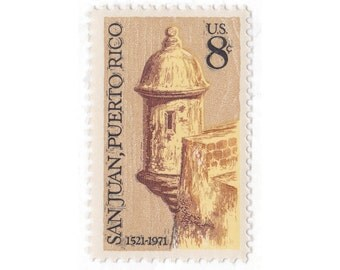 1971 8c San Juan, Puerto Rico - 10 Unused Vintage US Postage Stamp - Item No. 1437