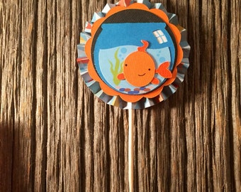 Goldfish Cupcake Toppers (set of 12)
