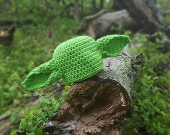Yoda Hat, Newborn Yoda Photo Prop, Newborn Star wars hat, star wars photo prop, goblin hat, elf hat yoda costume, goblin costume