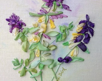 Botanical Collection, Melampyrum, Ribbon Embroidery