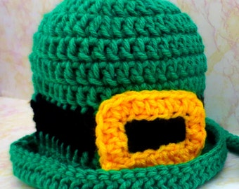 Crochet Pattern Leprechaun Hat - St Patricks Day Hat Crochet Pattern - Crochet Bowler Hat Pattern -  Crochet Top Hat Pattern - Photo Prop