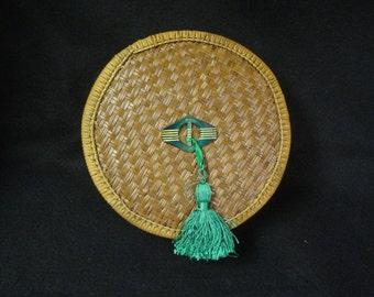 MEDIUM 9'' Round Woven Chinese Sewing Basket