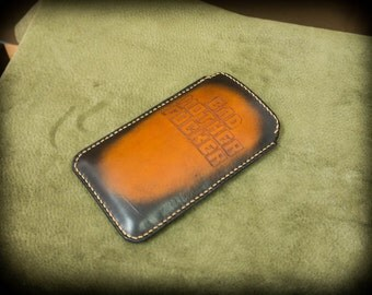 iPhone 6/6S leather sleeve, engraved