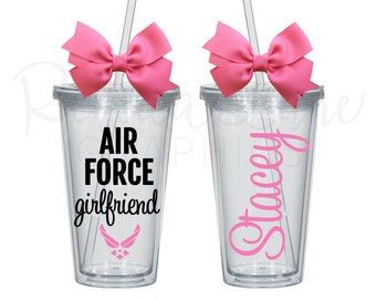 ON SALE! Any Color: Air Force Girlfriend/Sister/Mom/Wife/etc PersonalizedTumbler