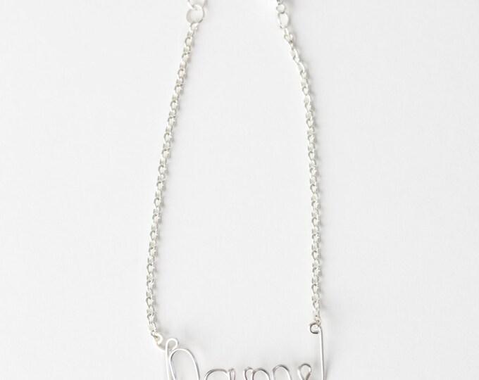 Personalized Name Bracelet (Silver)