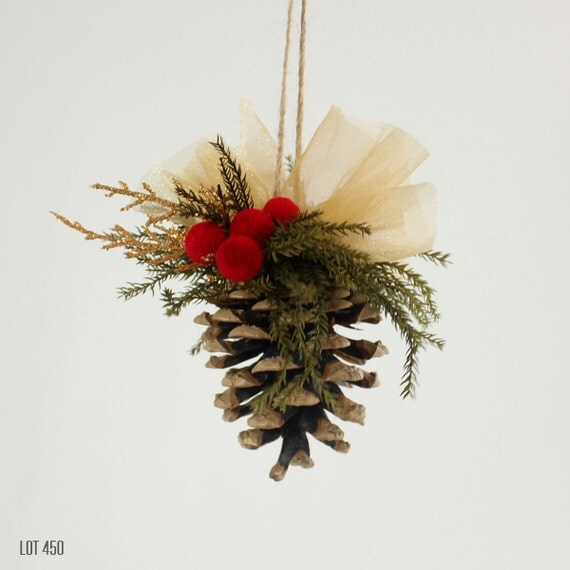 Christmas Tree Ornament Pine Cone Ornament Christmas By