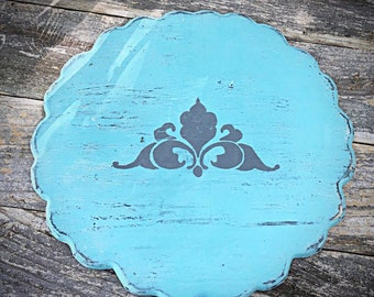 Wood Turn Table - Lazy Susan - Turntable - Rustic Cheese Board - Lazy Susan Turntable - Wooden Table Centerpiece - Farmhouse Style Decor