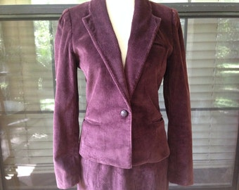 Vintage 1980's Corduroy Suit -The Limited