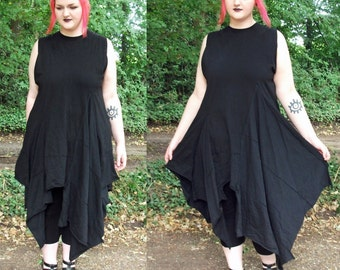 Vampire dress, hand-sewn, Plus sizes.