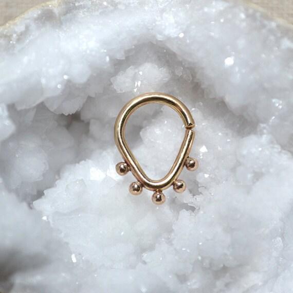 Nipple Ring - Gold Septum Jewelry - Nipple Piercing - Septum Ring - Cartilage Hoop - Helix Piersing - Nipple Jewelry 14 gauge