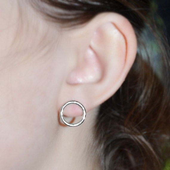Sterling Silver Bar Stud Earrings - Tiny Stud Earring - Silver Earring Studs - 20 Gauge Cartilage Piercing - Helix Piercing
