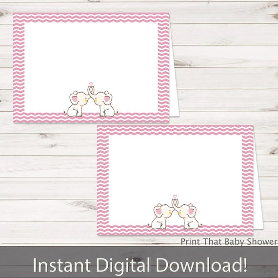 baby shower food tent labels pink elephant baby shower printable