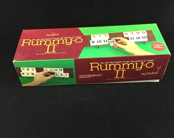 Vintage Board Game Rummy-O by Cardinal