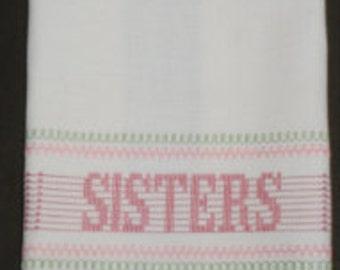 Sisters ~ Huck Embroidery Towel Kit